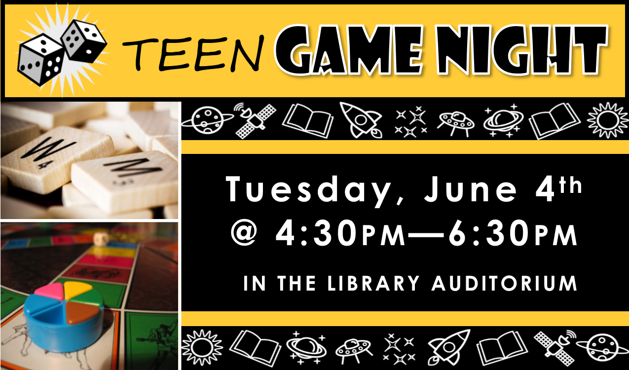 Join us for some classic gaming, including board, card, dice and more!