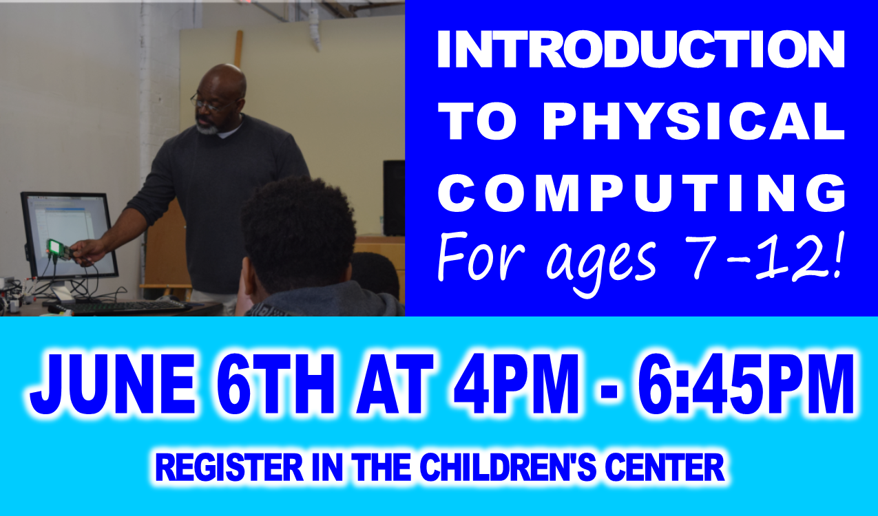 For ages 7-12. Work on Raspberry Pi mini computers and learn the basics of the Python coding language. Register in advance in the Children's Center.