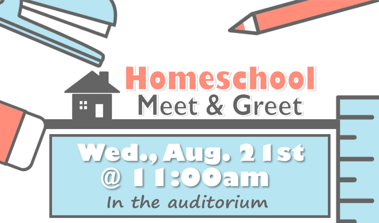It's our first meeting of the school year! Meet other homeschooling families, learn about resources, and help plan future activities.