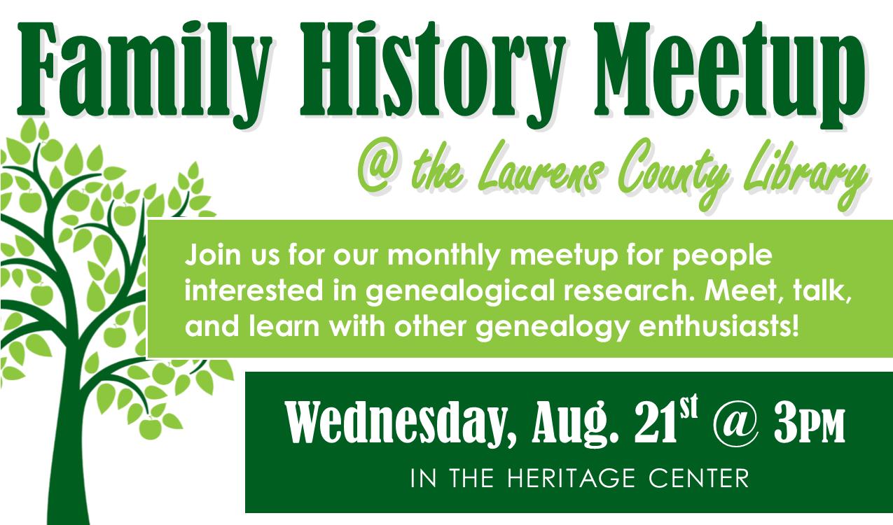 Meet, talk and learn with other genealogy enthusiasts!