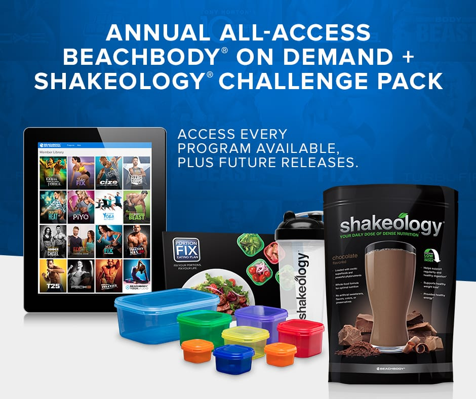 WOW! THIS SCREAMS VALUE!! IT DOESN'T GET MUCH BETTER THAN THIS....  THIS truly is the BEST combination of fitness, nutrition and support that is guaranteed results. Introducing the ANNUAL All-access Beachbody on Demand and Shakeology Challenge pack. No more messing with DVD's. Complete on demand access of over $6000 worth of fitness and weigh loss solutions for an entire YEAR, (plus all the newly released programs coming out in the future). This promotion is being offered for an undisclosed amount of time, so act fast! The video below shares all the details. The price? Cheaper than what you'd pay for a 2 month membership at your local Big-box Gym!  WATCH below for this unique ad sharing why BOD would be a good fit not only for your body, gut for your busy life! :)
