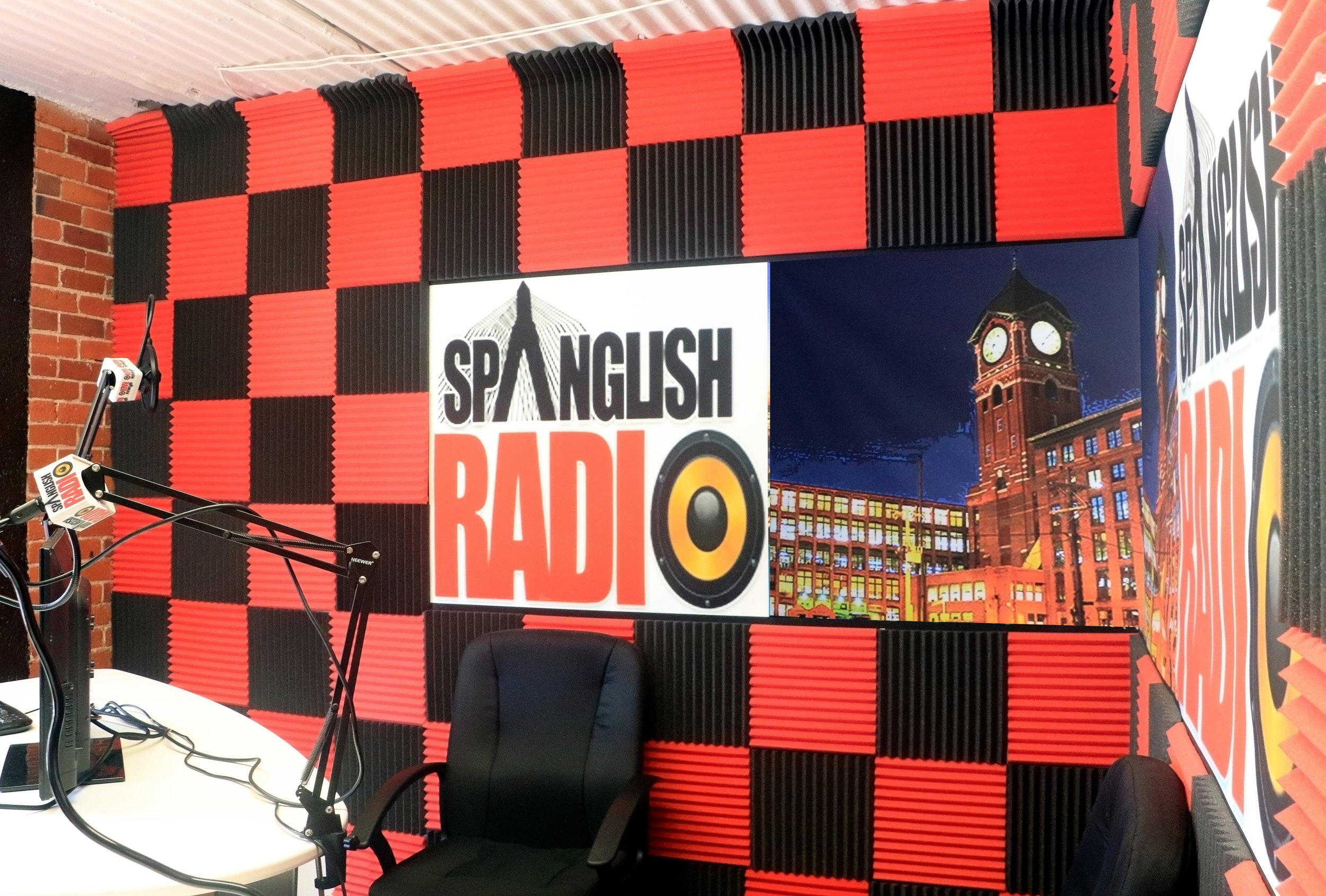 Spanglish Radio Station, in residence at Launch CoWorking in Riverwalk Lawrence