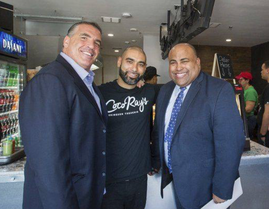 Sal Lupoli, President and CEO of Lupoli Companies, Ray Gonzalez, Coco Ray's, and Dan Rivera, Mayor of Lawrence