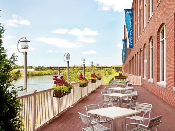 Salvatore's deck overlooking the Merrimack River