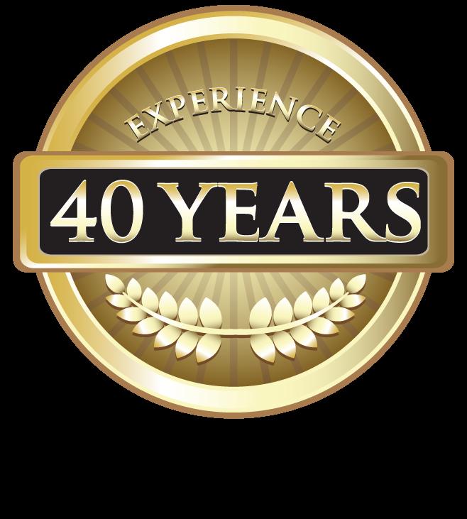 40 years graphic