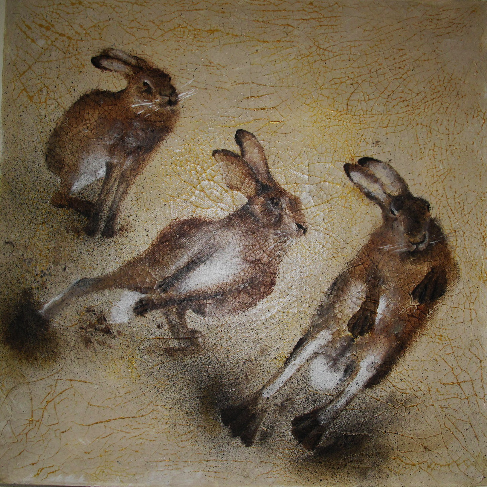 Hares Running 2