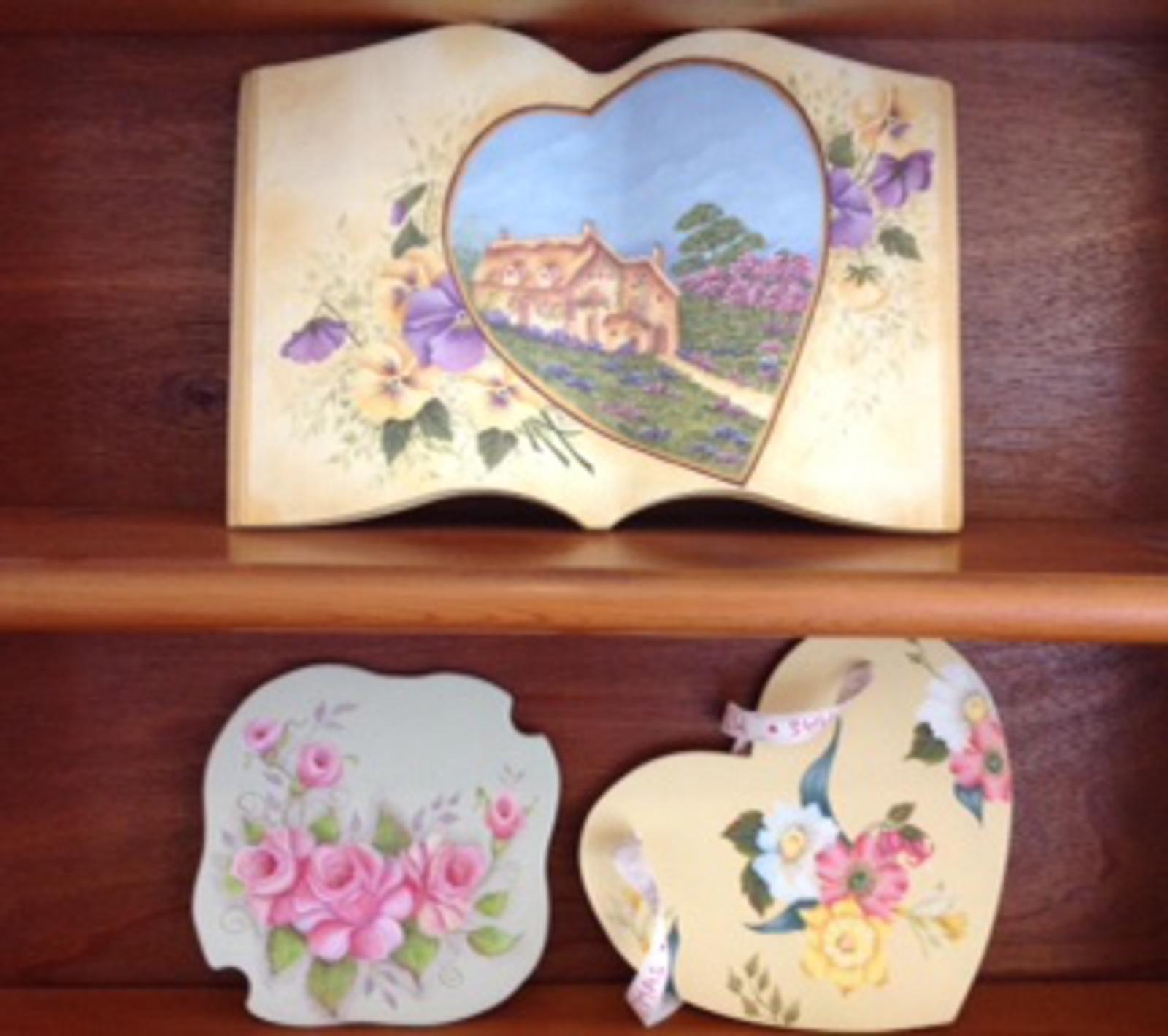 Decorative Paintings Acrylic on woods HR - Kumiko Masterton