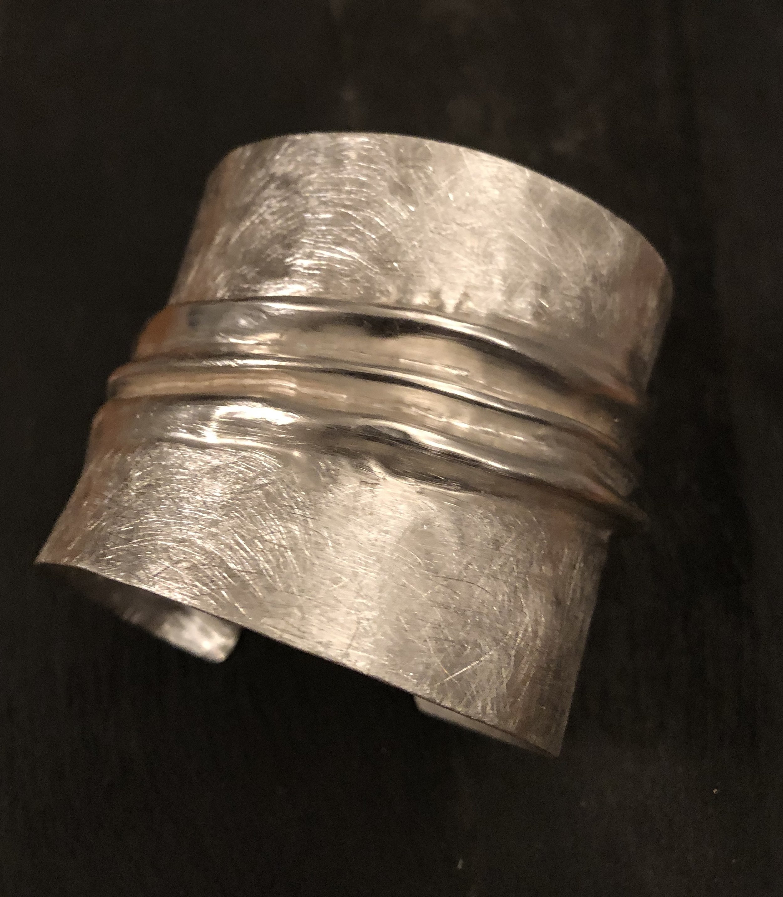 Large Foldform Sterling Silver Cuff