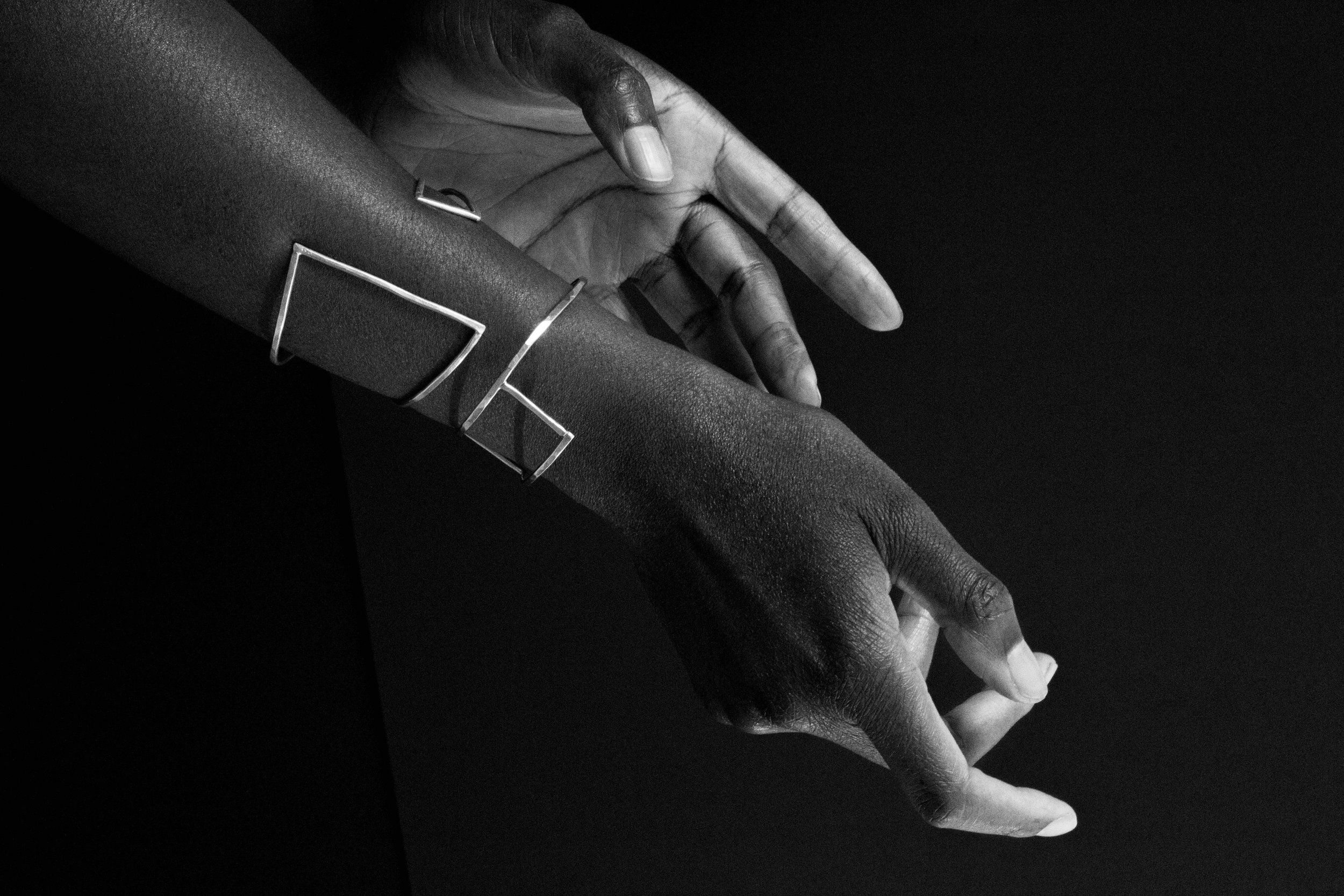 Sterling Silver Geometric Cuffs
