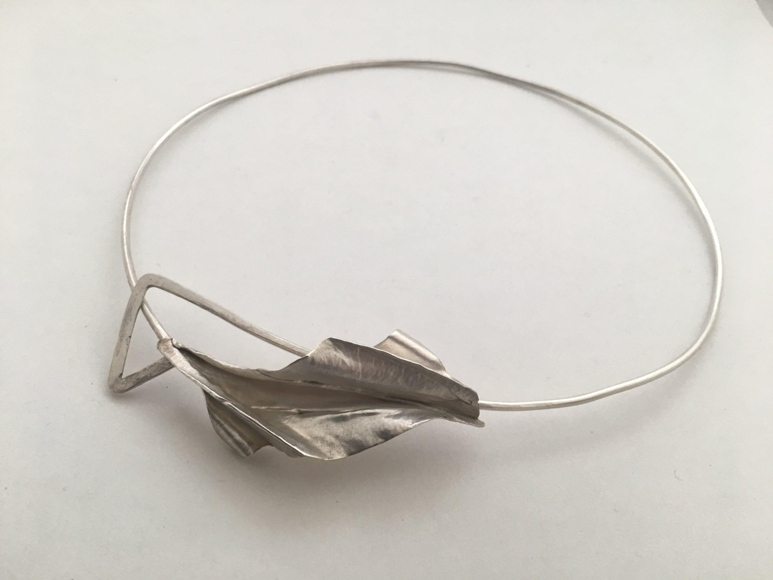 Sterling Silver Foldform Neckpiece