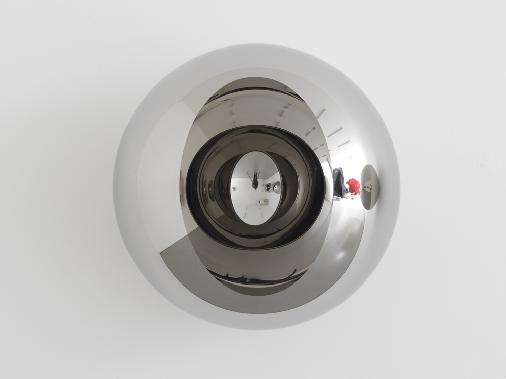 Anish Kapoor, Sphere with Oval Hole. Stainless steel.
