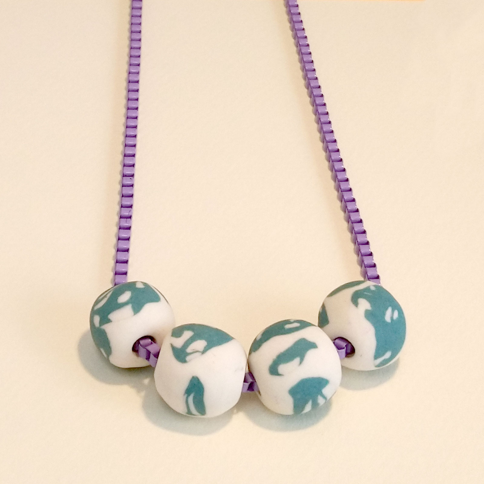 Porcelain Bead necklace