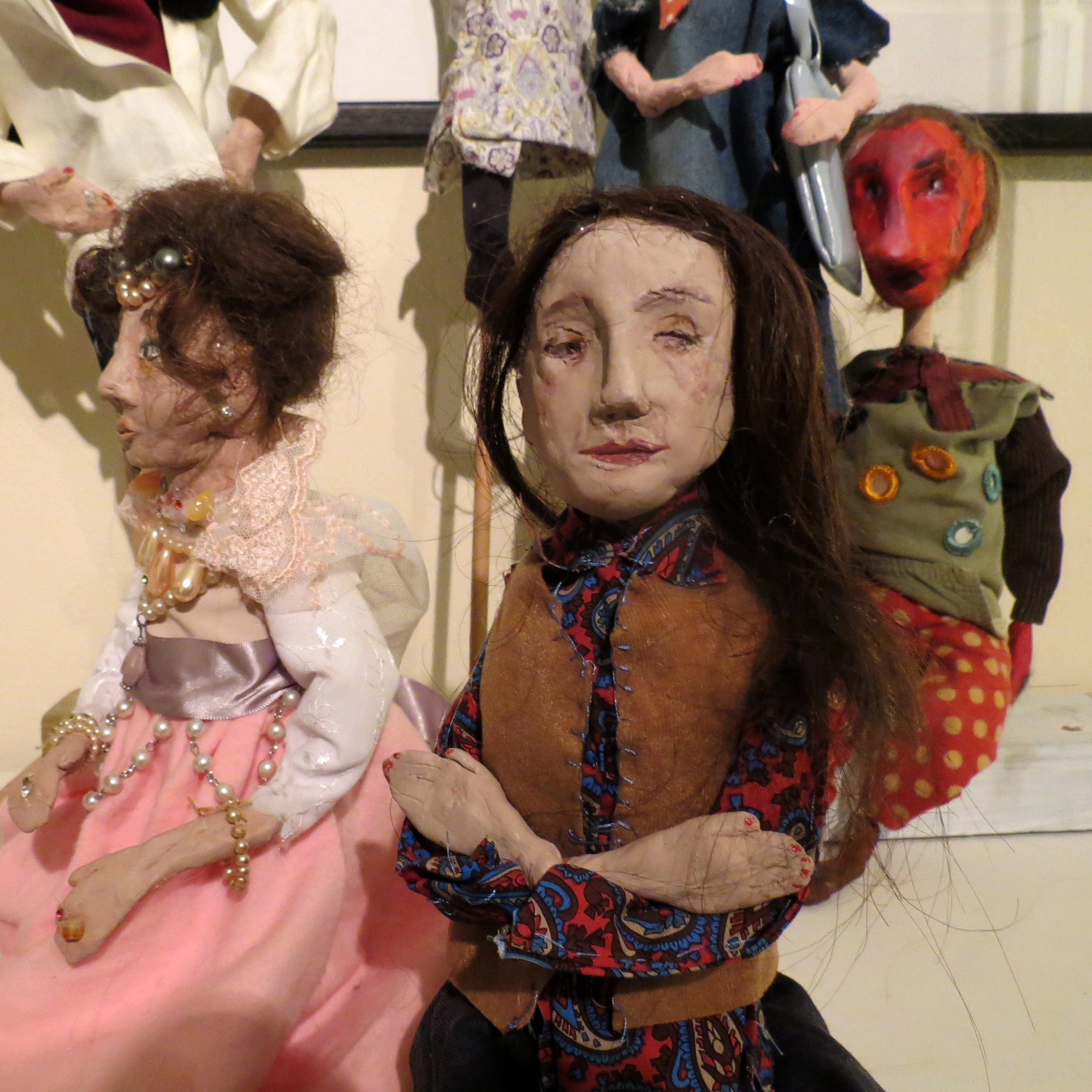 'Princess' and 'Art Mum' Puppets