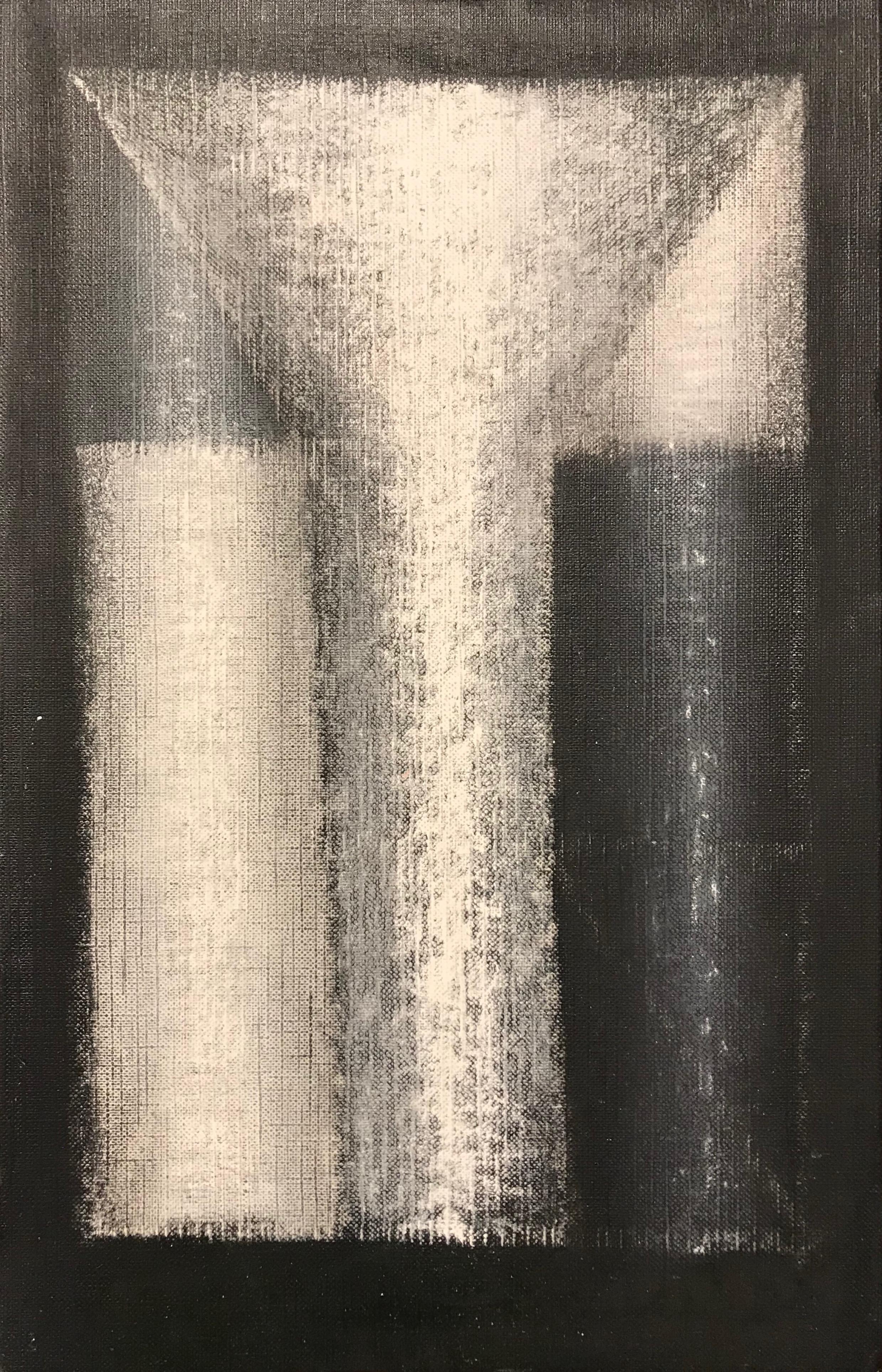 'Three White Poles & Funnel'