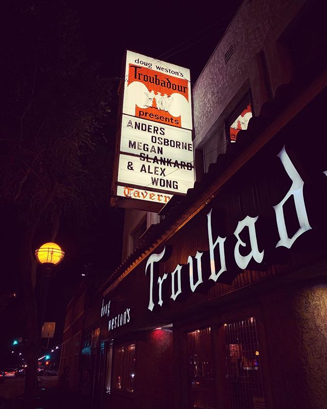 We made it to @thetroubadour! Can't wait to see you tonight LA... @meganslankard and I are gonna do our very best to give you a fun-filled evening supporting the great @andersosborne, y'all deserve it!!