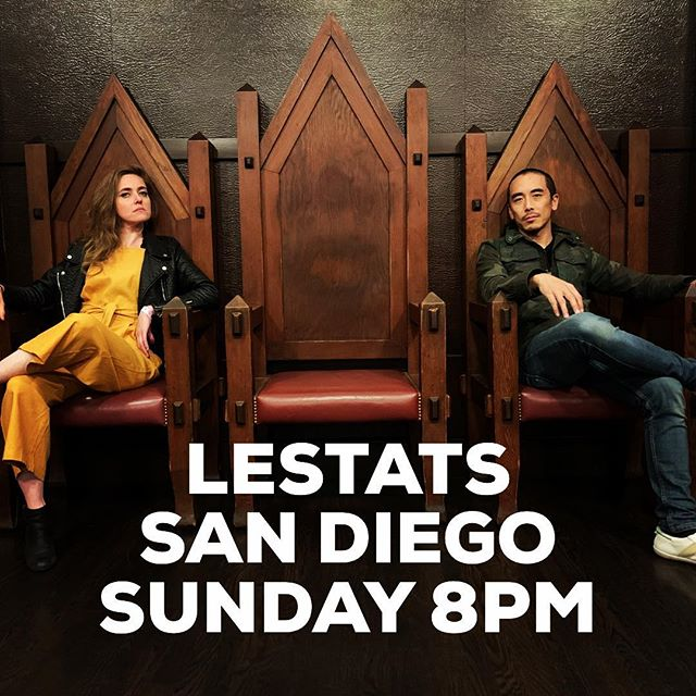 San Diego we're on our way! @meganslankard and I will see you TONIGHT at our fave spot @lestatswest 8pm. The lovely @kingtaylorproject opens the show! Ticket link in bio...