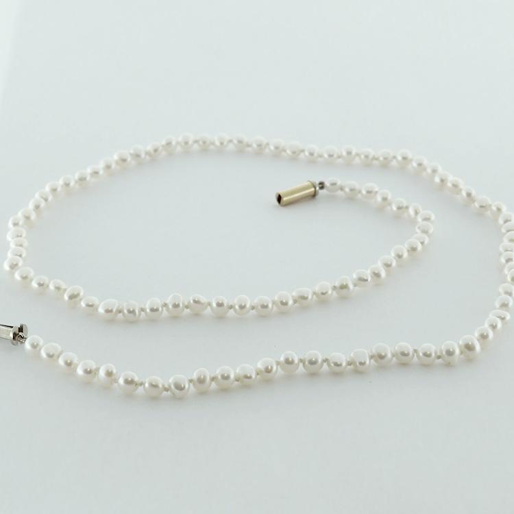<b>Biwa Pearl Necklace</b><Br>reg.RT: $1,700/Special; $ 1,360<br>Genuine Japanese Biwa Pearls<br>Handcrafted Barrel Clasp