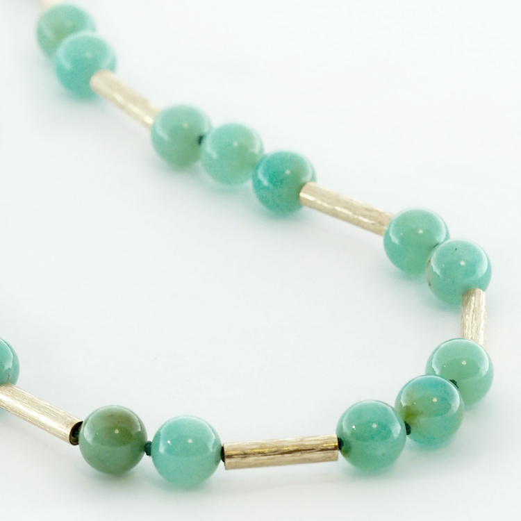 <b>Chrysoprase Necklace</b><Br>$4,995<br>14K Yellow Gold,<br>10mm Chrysoprase Balls<br>Available: Set of 3 Items