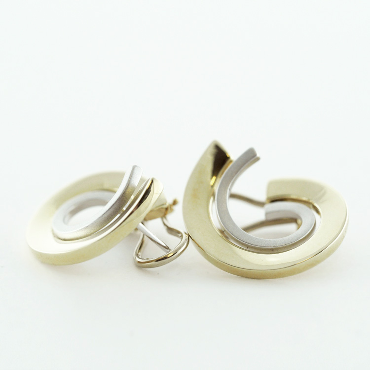 <b>Double Spiral</b><br> $1,170<br> 14K Yellow and <br>White Gold