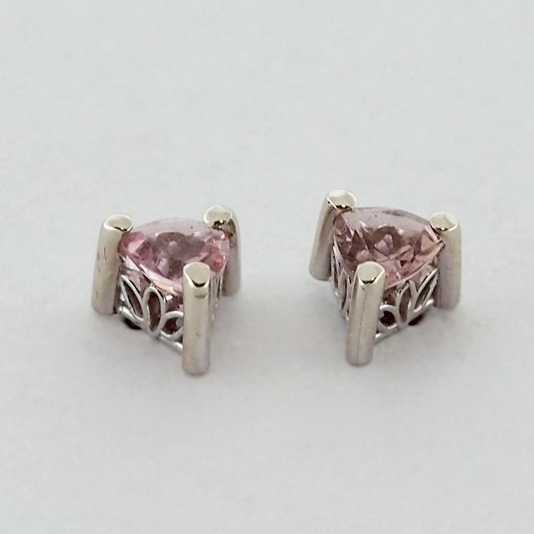 <b>Pink Tourmalines</b><br>$207<br>14K White Gold, <br>4mm