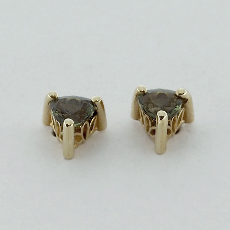 <b>Green Sapphires</b><br>$225<br>14K Yellow Gold, <br> 4mm