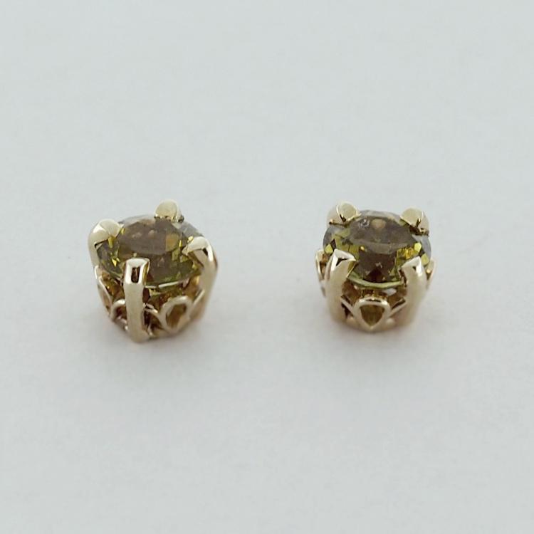 <b>Green Tourmalines</b><Br>$485<br>14K Yellow Gold,<br>TW: 1.3 ct
