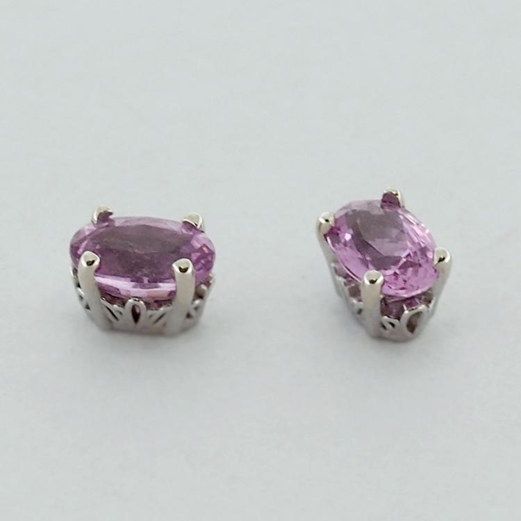 <b>Pink Tourmaline</b><br>SOLD<br>14K White Gold,<br> 6x4mm oval