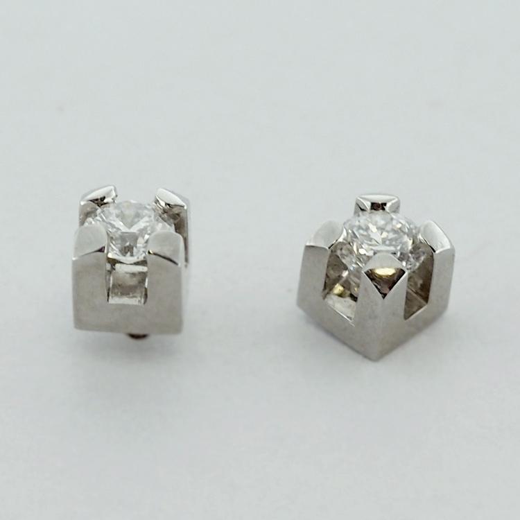 <b>Diamond Studs</b><Br>$2,551<br>19K White Gold, <br> G-SI1, TW: 0.51 ct