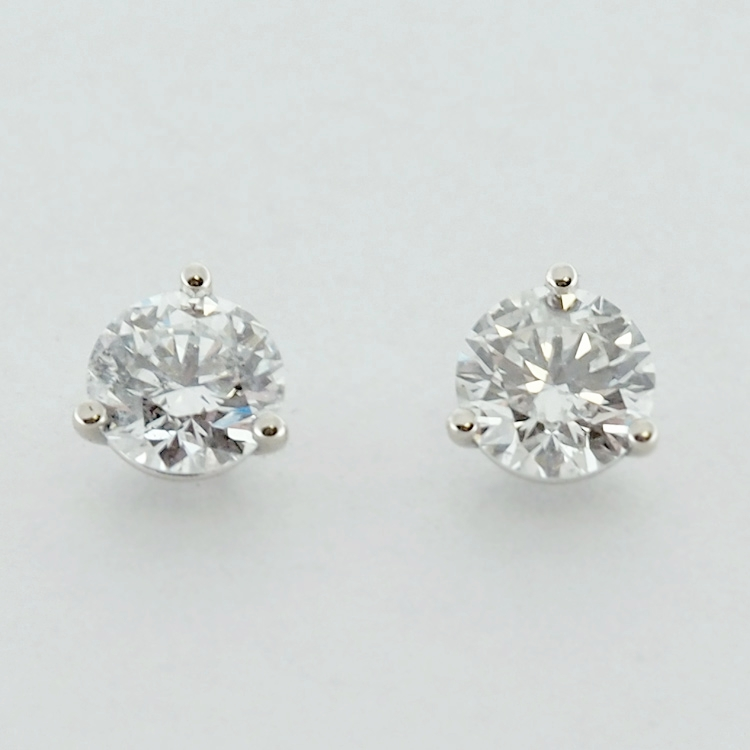 <b>Diamond Studs</b><br>SOLD<br>14K White Gold, <br> TW: 1.24 ct