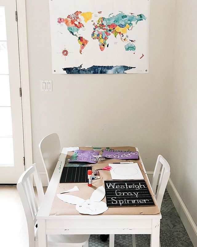 """I'm officially surrendering my pretty office to a bunch of kids for a playroom😏and I'm not sad about it. I love this space so much but my kids love it more and so here we go! I'll post some fun """"after"""" pics when it's done🙌🏻 #homerenovation"""