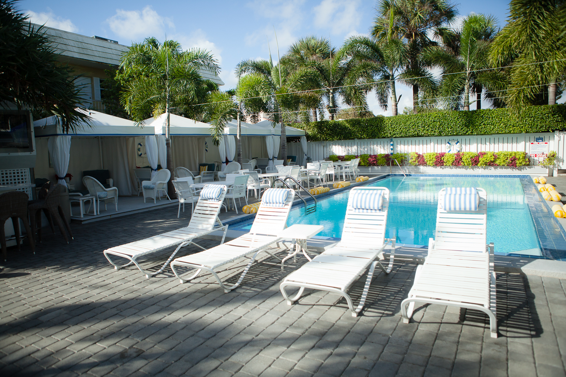 Pools & Cabanas - We feature two heated pools for swimming and multiple cabanas for a reprieve from the heat. Our rooftop deck overlooks the Atlantic Ocean.