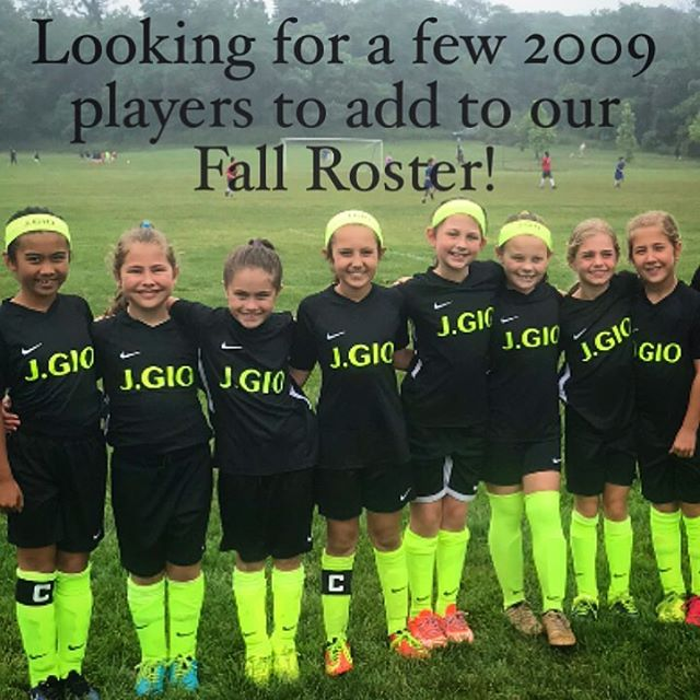 J.GIO 2009/U10 Fall EDP.  Any 2009 players looking for a really great soccer experience with an amazing team and high level training please email JessyGiordano@gmail.com for a tryout. #JGIO #EDP #NorthJersey #BergenCounty #SoccerTraining #GirlsSoccer #YouthSoccer