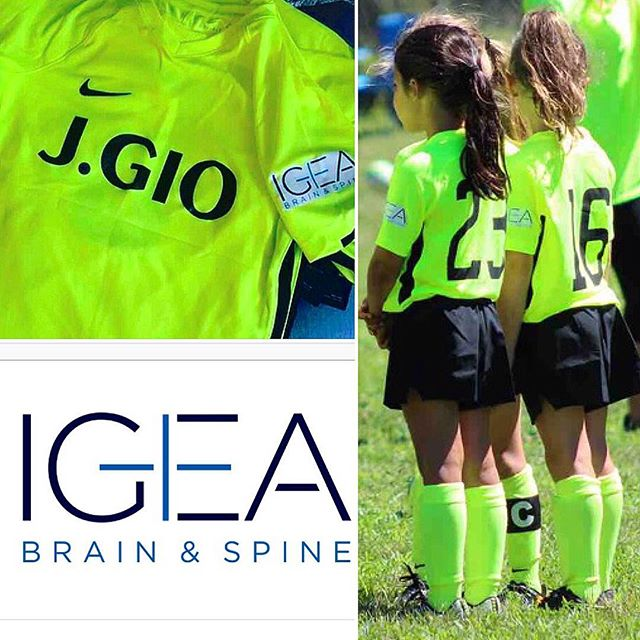 Thank you IGEA Brain and Spine and Dr. Randazzo for Sponsoring the J.GIO U8 EDP Fall Team !! We truly appreciate all of your support!! Check out their offices in Hazlet and Union NJ!! #Sponsor #Sponsorship #SpineDoctor #Support  #GirlsSoccer #U8 #JGIO @antoninarandazzoo