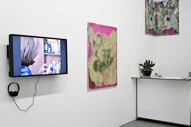 Dyeing, Merging, Multitasking, works by Shana Moulton and Siebren Versteeg