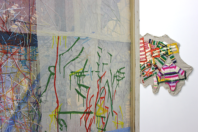 Dyeing, Merging, Multitasking, works by Dona Nelson and Mike Cloud