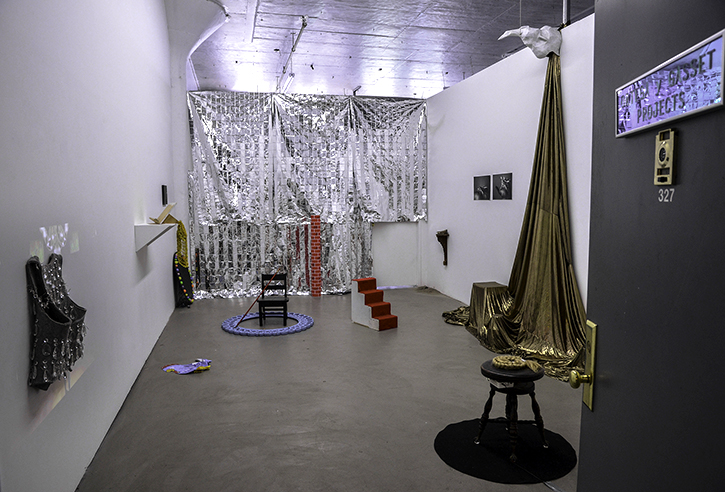 Installation view (artifacts from performance), 2014