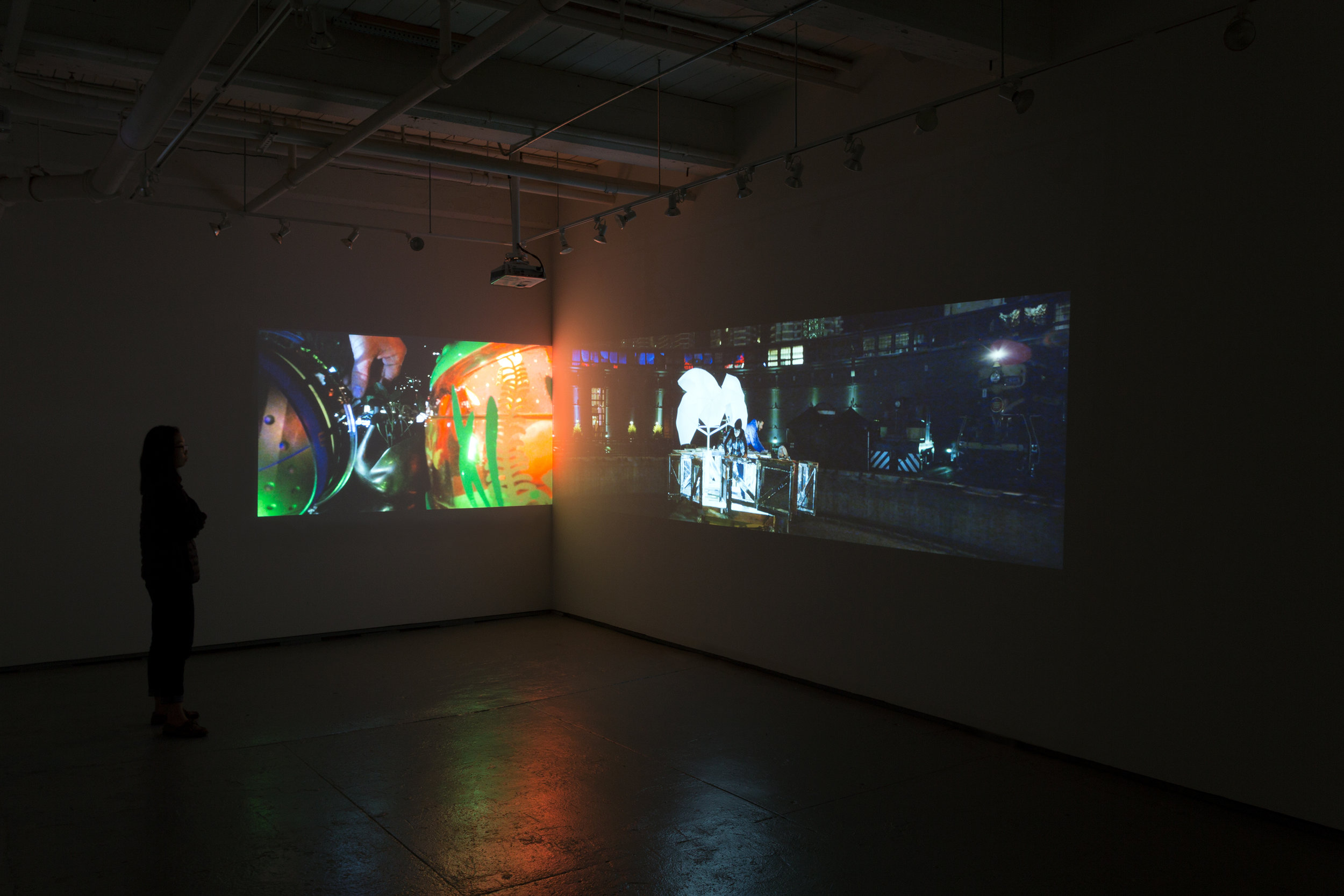 MEGAN AND MURRAY MCMILLAN, 2016, The Shifting Space Around Us, video installation