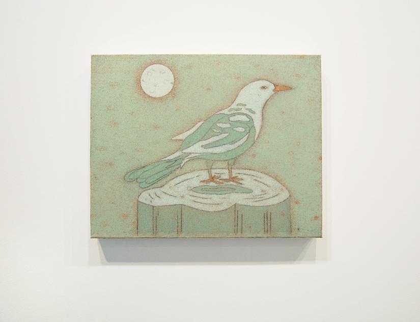 """JOHN DILG: Early Bird, 2014, oil on canvas, 11"""" x 14"""" Courtesy of Jeff Bailey Gallery"""