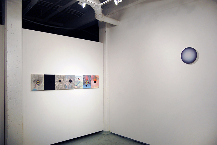 JONATHAN COWAN: selected works, 2012-2015 (left) and LUC PARADIS (right)