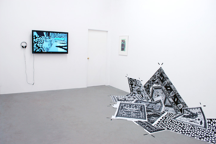 STEPHANIE SYJUCO: Ceci n'est pas Villa Savoye (Dazzle Camouflage Speculative Proposal), 2013, Speculative Orientations (Lossy Version), from the Cargo Cults series, 2013