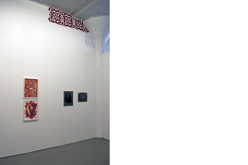 Installation view of Relay Relay Showing works by Lauren Frances Adams and Carrie Hott