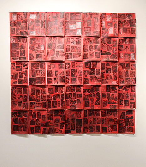 CARMEN WINANT: 11 Carmen Winant The Red Parts, 2016 Collage and red food coloring