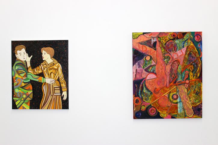 SUSAN BEE: The Slap, 2012 - PATRICK McELNEA: His Stretch Her Corner, 2011-12