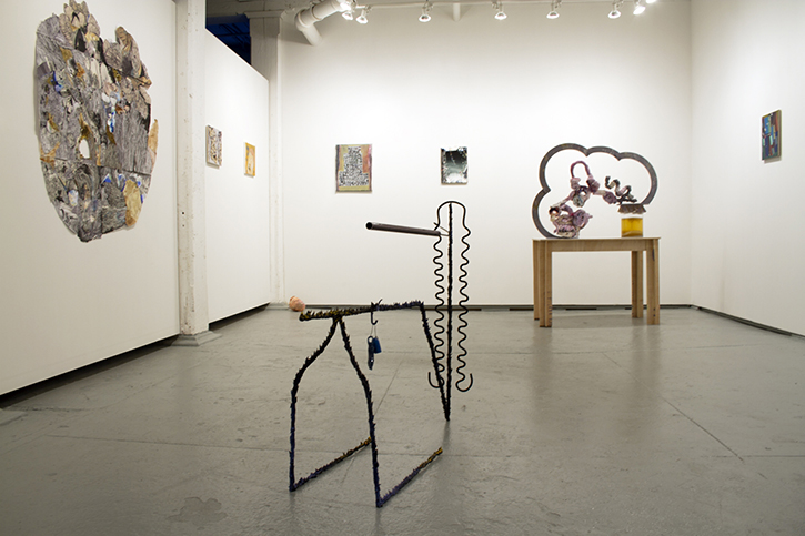 Installation view Thinking and Touching Time