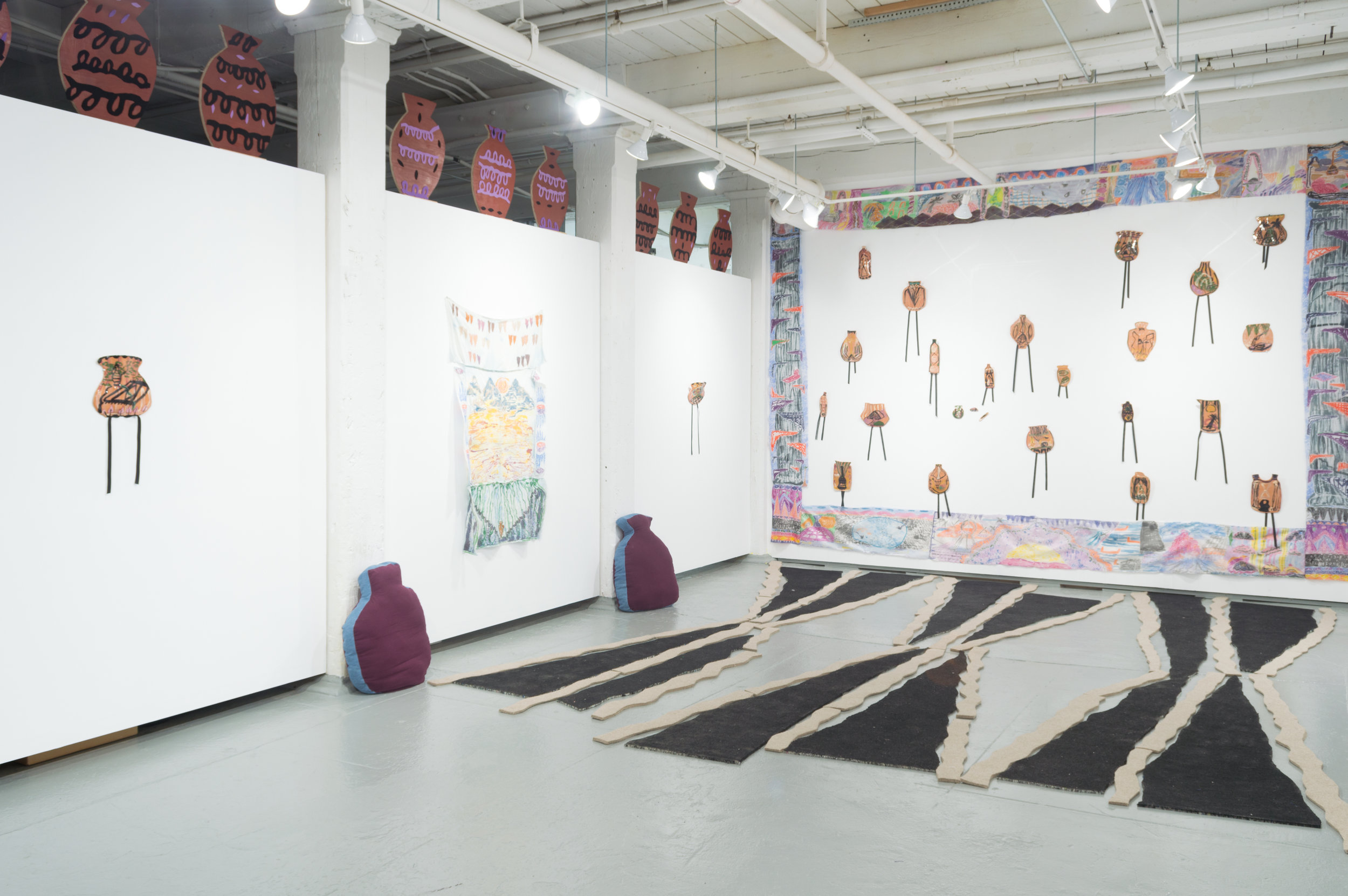 OyG's Main Space during   Among Nines ,   Padma Rajendran, Sept 9 - Oct 1, 2017