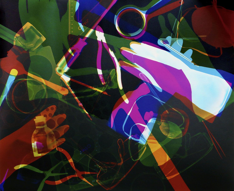 "Rachel Guardiola Mementoes of an Investigator #5. 2019. Unique chromogenic color print (darkroom print). 24 x 20"""