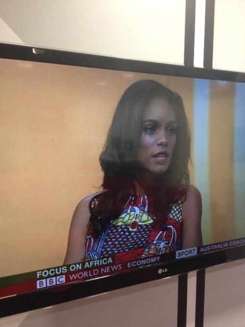 Noëlla on BBC's Focus on Africa