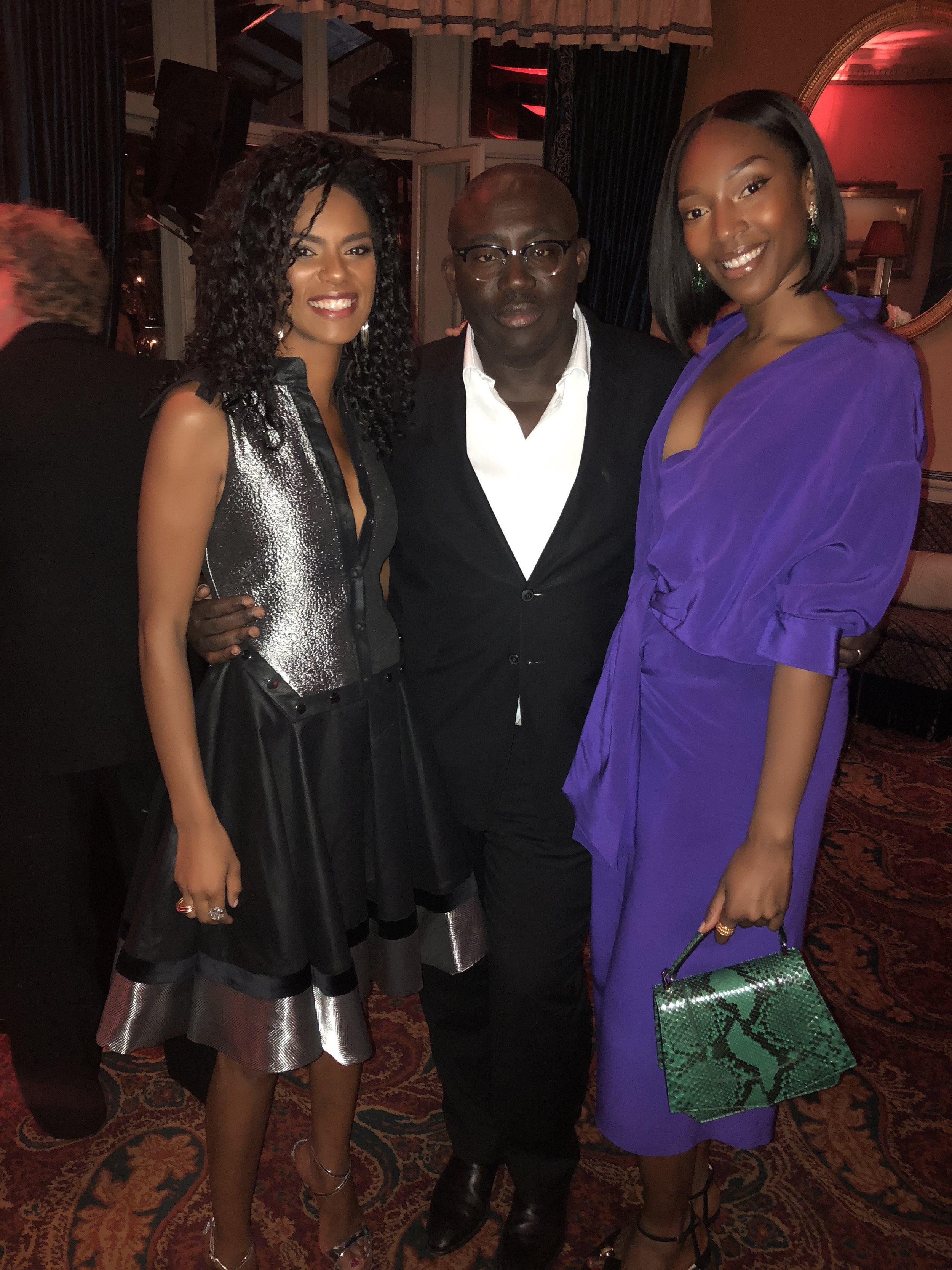 At the Vogue party with Vanessa Kingori and Edward Enninful