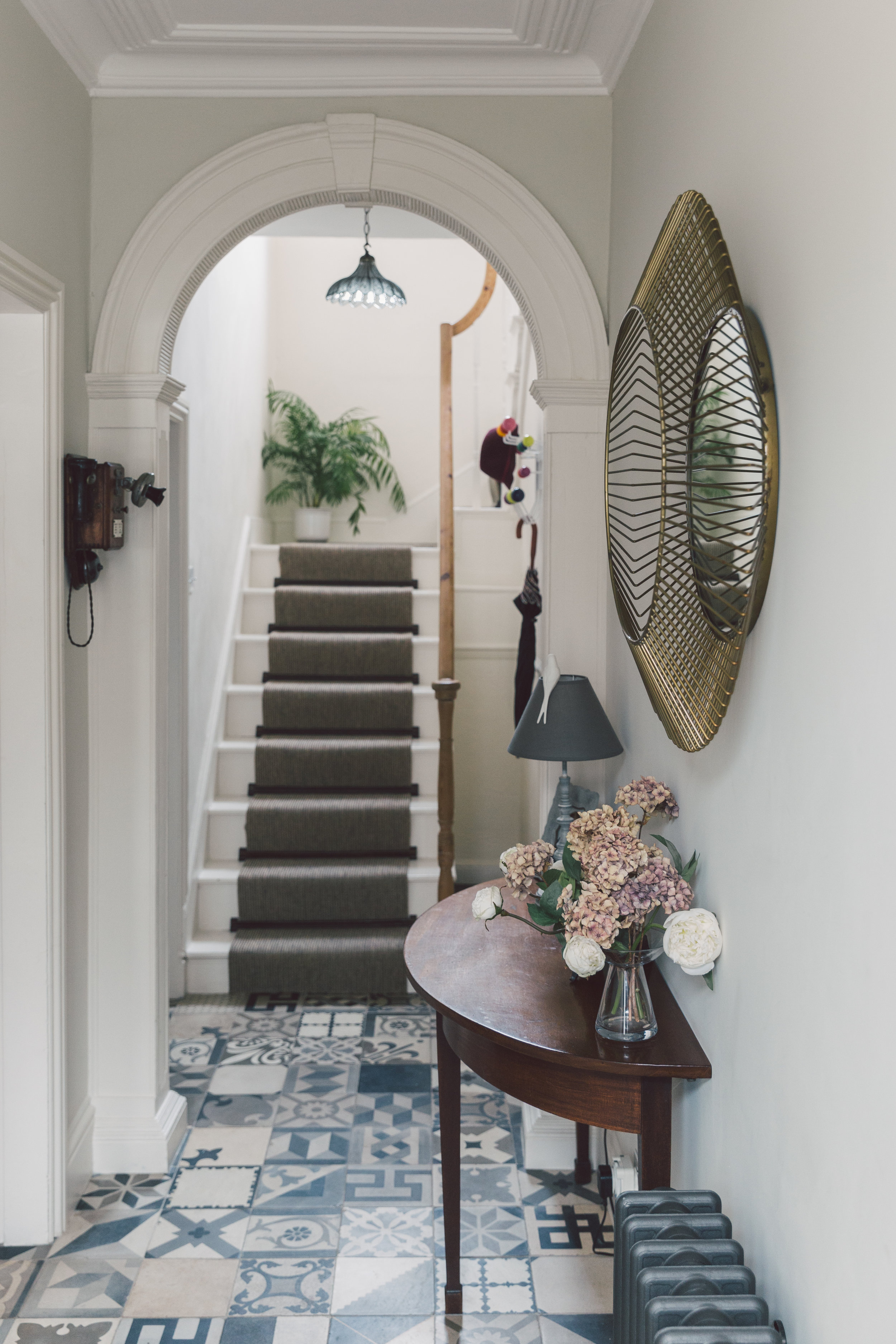 Bert & May tiled hallway