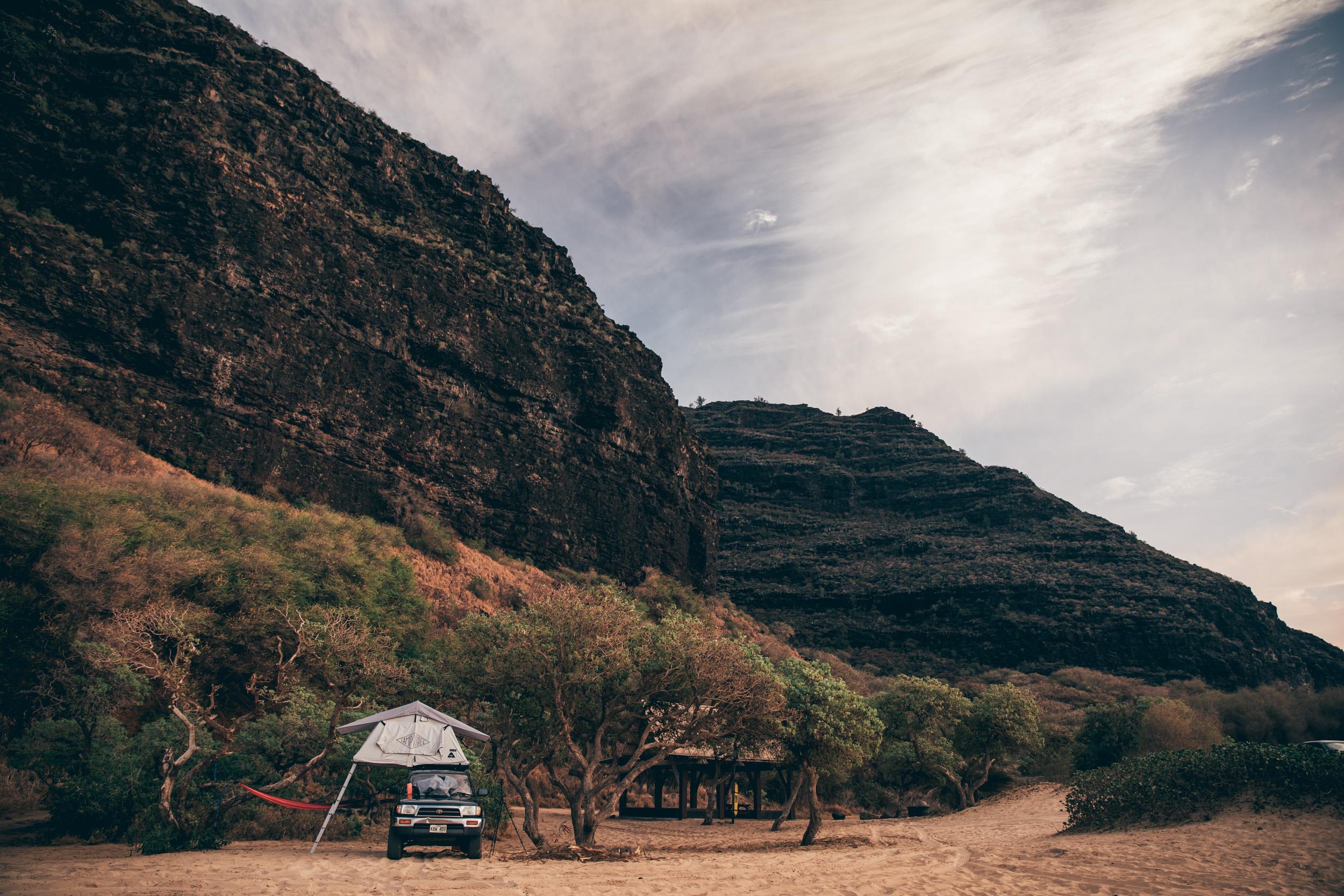 Hawaii-Overland-Kauai-roof top tent-camping-polihale-rental.jpg